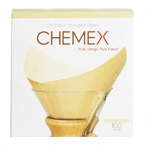 Chemex Unbleached Coffee Filters, 100 Count