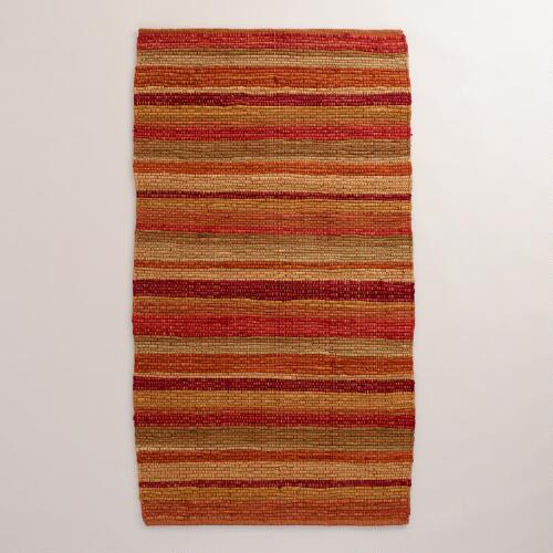 Safari Warm Stripe Rug