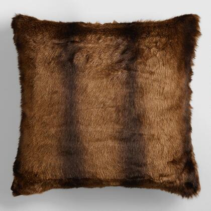 Faux Mink Fur Throw Pillow