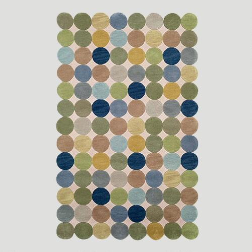 Ocean Circles Tufted Rug