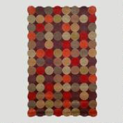 Teak Circles Tufted Rug