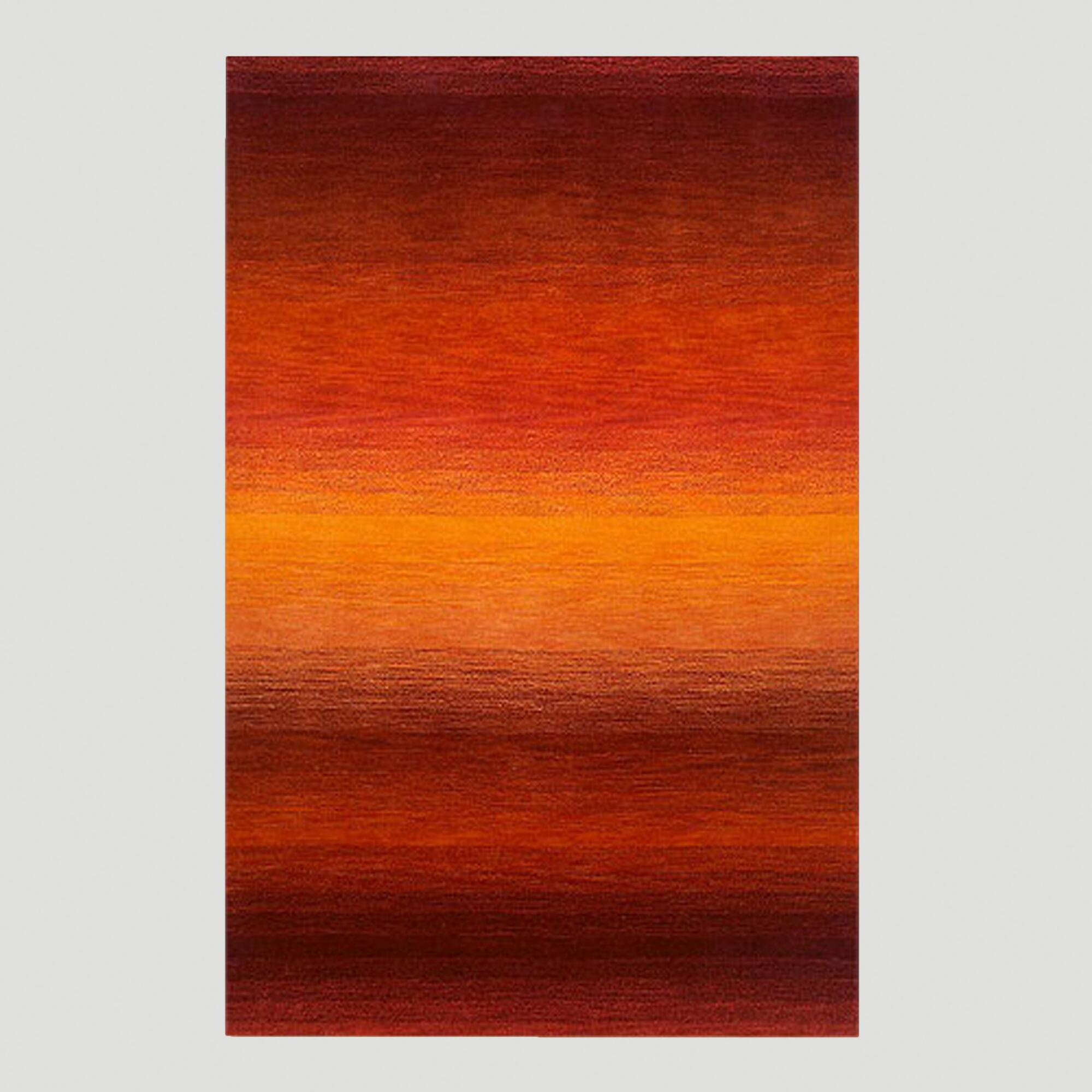 Sunrise Ombre Stripe Wool Rug, 3.5ftx5.5ft