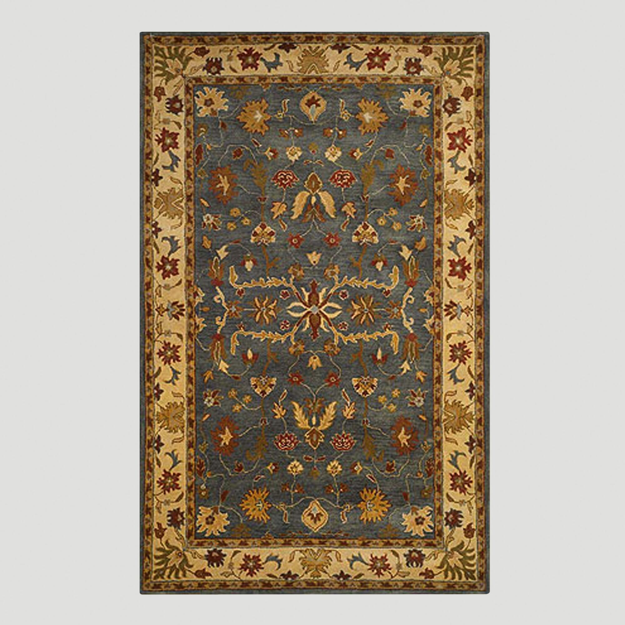 Gray oushak wool rug world market for Dining room rugs 9x12