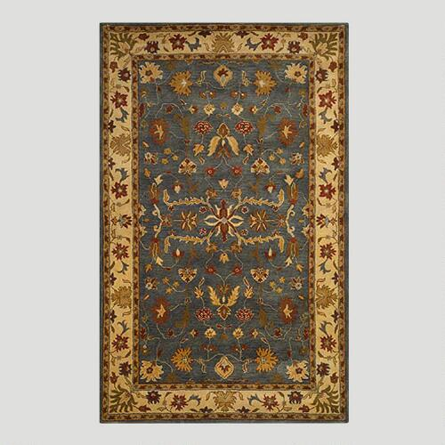 Blue Oushak Wool Rug