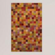Sunset Squares Tufted Wool Rug