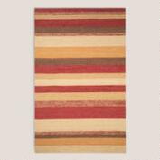 Red Striped Indoor-Outdoor Rug