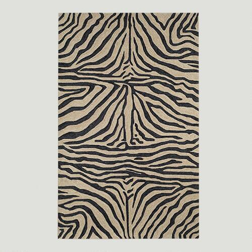 Black Ravella Zebra Indoor-Outdoor Rug
