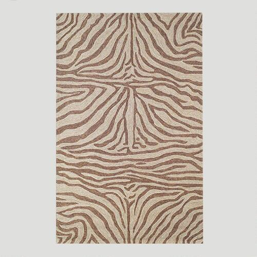 Brown Ravella Zebra Indoor-Outdoor Rug