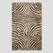 Zebra Wool Rug, Neutral