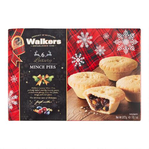 Walkers Luxury Mincemeat Tarts, Set of 6