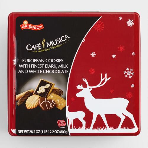 Café Collection European Chocolate Cookies Tin