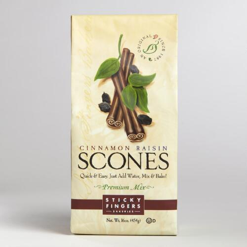 Sticky Fingers Bakeries Cinnamon Raisin Scone Mix, Set of 6