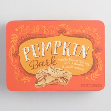 Milk Chocolate Pumpkin Bark Tin