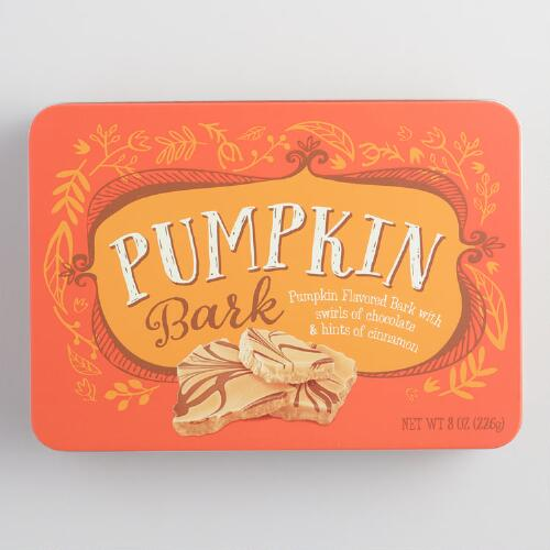 Pumpkin Bark Tin