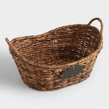 Medium Oval Madras Chalkboard  Basket