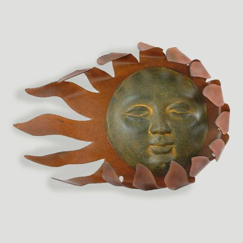 Novica Solar Wind Iron Wall Adornment