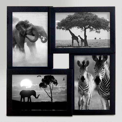 4x6 Black Emery 4-Photo Frame