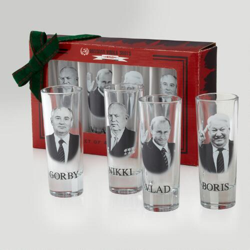 Russian Vodka Shooters, Set of 4