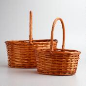 Honey Oval Isabella Baskets