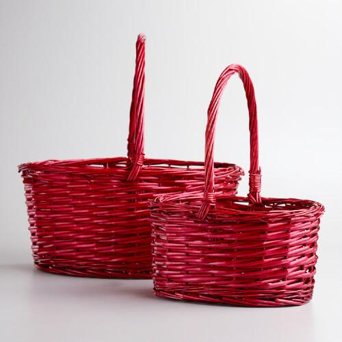 Red Oval Isabella Baskets