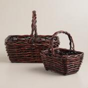 Brown Willow Storage Baskets