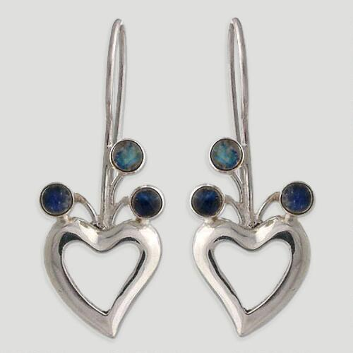 Novica Lucky in Love Moonstone Drop Earrings