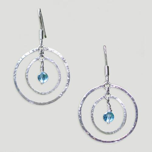 Novica Blue Halo Earrings