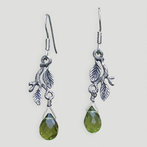 Novica Rainforest Sterling Silver Drop Earrings