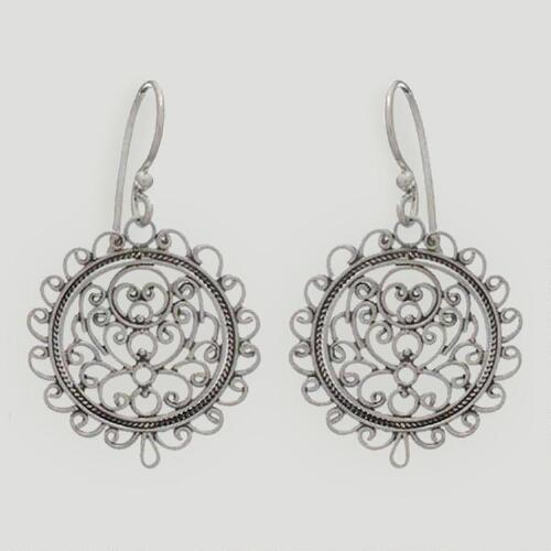 Novica Sunflower Sterling Silver Dangle Earrings