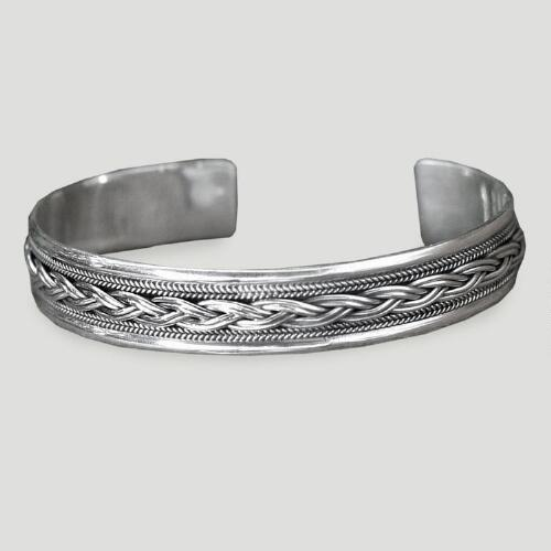 Novica Movement Sterling Silver Cuff Bracelet