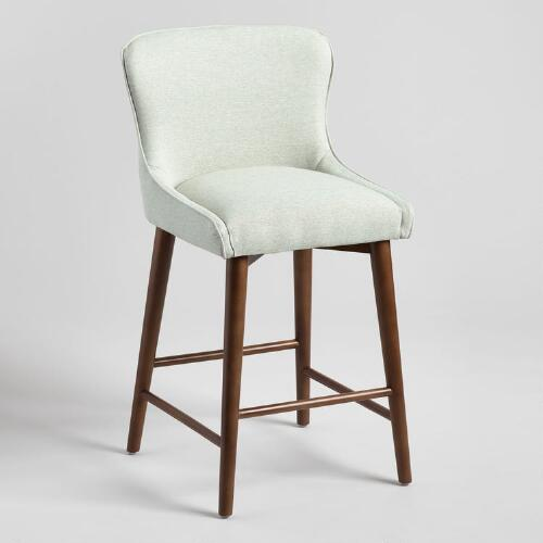 Tremendous Zarah Wingback Upholstered Counter Stool Alphanode Cool Chair Designs And Ideas Alphanodeonline