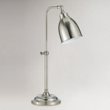 Brushed Steel Pharmacy Table Lamp