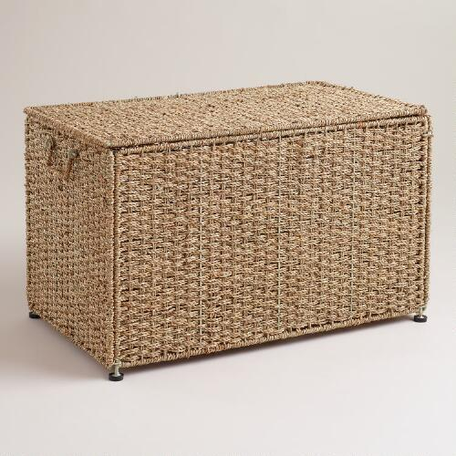 Collapsible Seagrass Trunk with Lid