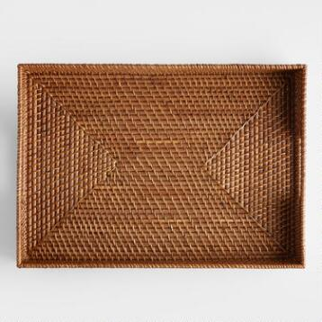 Rattan Tray, Honey