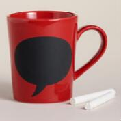 Chalk Talk Mug, Set of 4