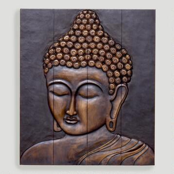 Wood Buddha Face Wall Hanging