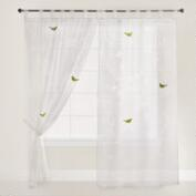 White Bird Botanical Sheer Burnout Curtain