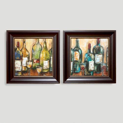 """Wine Bar"" by Nicole Etienne, Set of 2"
