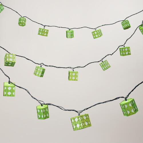 Green Cane 10 Bulb String Lights