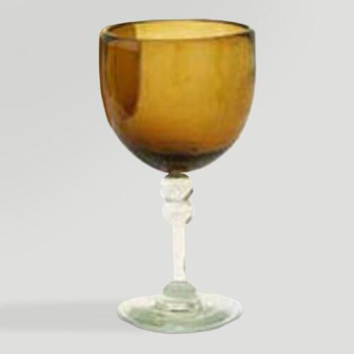 Novica Ocean Gold Wine Goblets, Set of 4