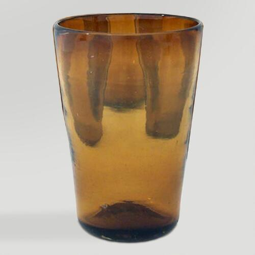 Novica Amber Angles Drinking Glasses, Set of 6