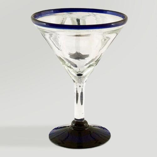Novica Cobalt Joy Martini Glasses, Set of 6