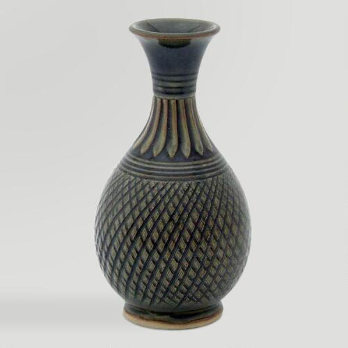 Novica Glamorous Celebration Celadon Ceramic Vase