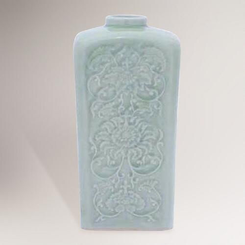 Novica Valley Lotus Celadon Ceramic Vase
