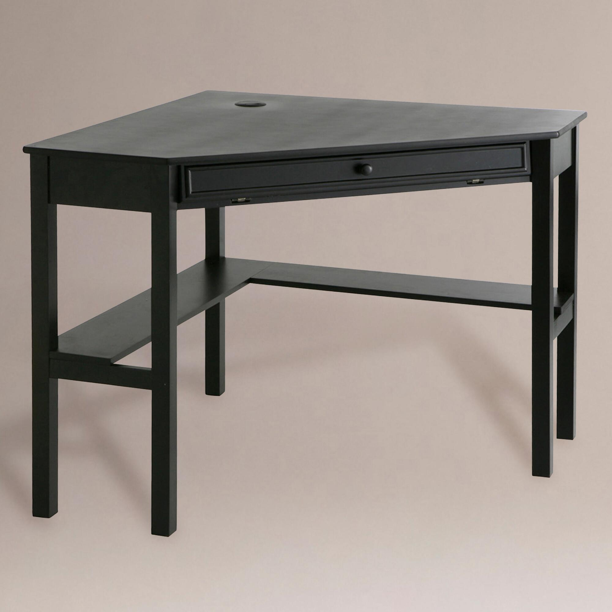 Black Corner Computer Desk World Market