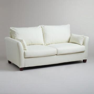 Ivory Luxe Sofa Slipcover