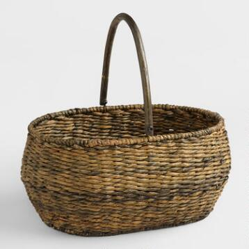 Large Madras Handle Basket
