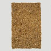 Leather Shag Rug, Camel