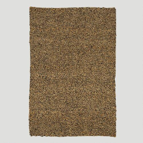 Jute & Leather Shag Rug, Coffee