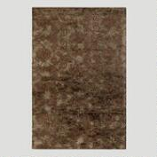 Relief Jute & Wool Rug in Chocolate